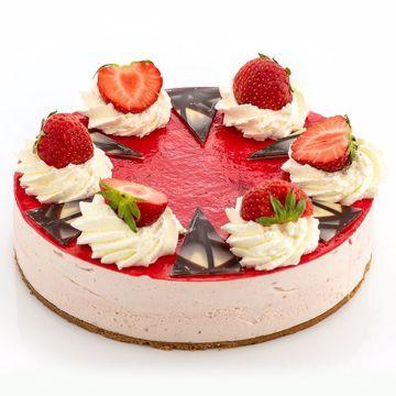 Afbeeldingen van Aardbeikwark taart