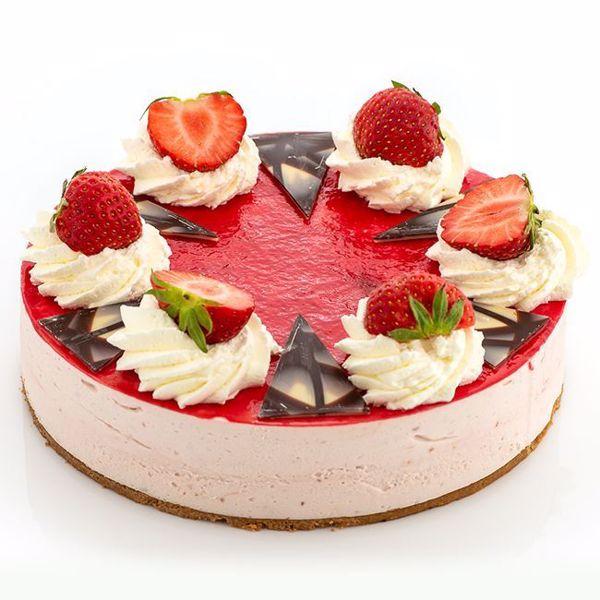 Afbeelding van Aardbeikwark taart